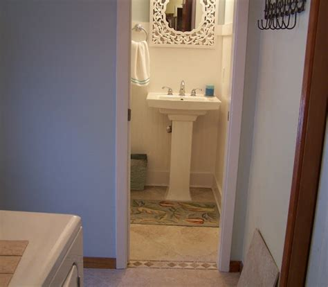 converting powder room to full bath friday guest anita from going a little coastal shop day