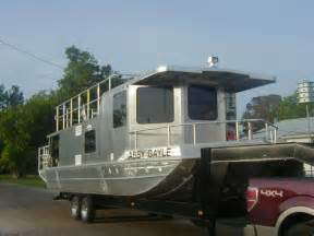 trailerable house boat 2011 homemade aluminum houseboat house boat for sale in southwest louisiana