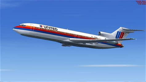 united flight united airlines boeing 727 200 for fsx