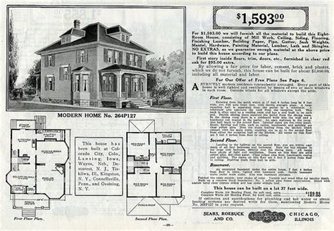 Sears Foursquare The Clarissa Or 264p127 The Clarissa 1913 American Foursquare House Plans