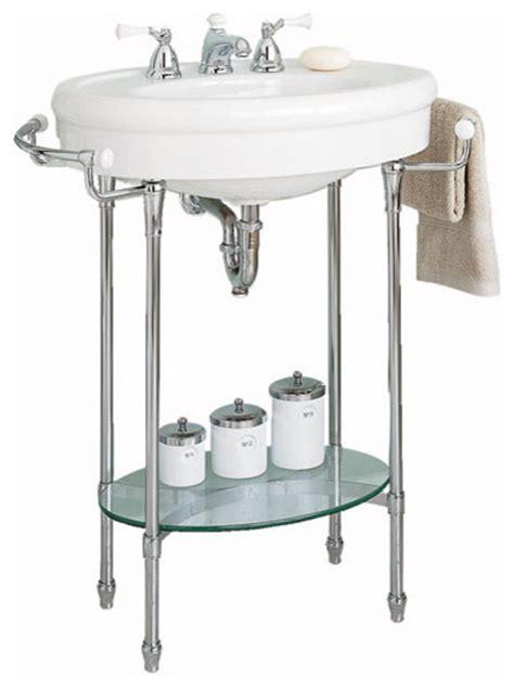 Sink with chrome legs traditional bathroom sinks by periodbath