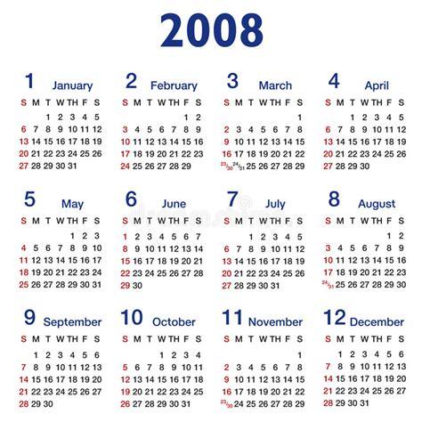 August 2008 Calendar Square Ratio 2008 Calendar Stock Vector Image Of Journal
