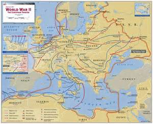 Wwii Europe Map by World War Ii The European Theater Map Maps Com