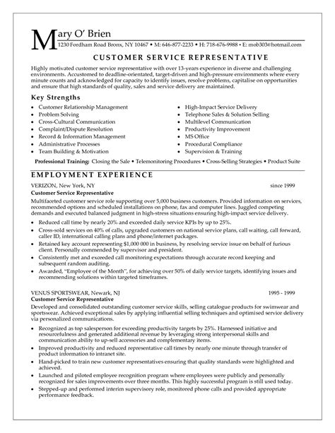 Great Resumes For Customer Service by Excellent Customer Service Skills Resume Resume Ideas