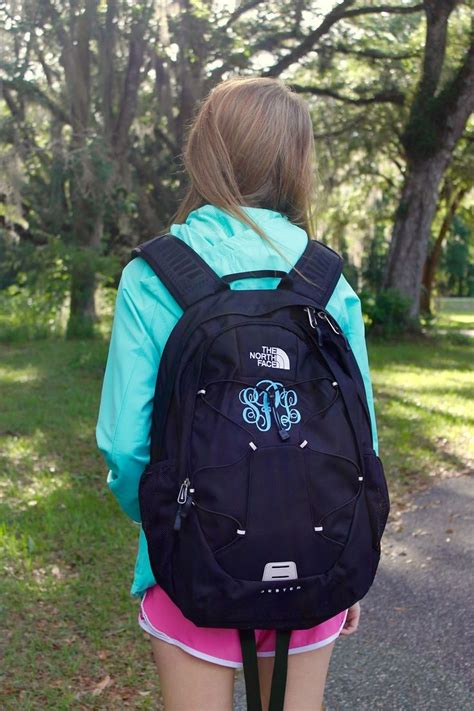 monogrammed north face backpack google search