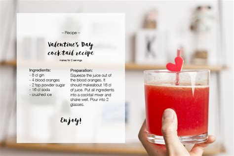 valentines day drink recipes s day drink recipe gin cocktail look what i