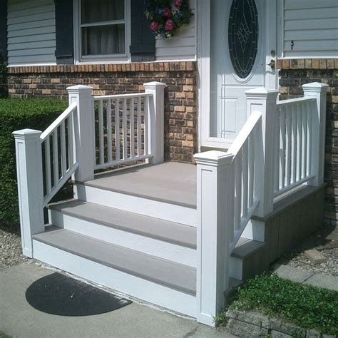 concrete front steps ideas  pinterest stained