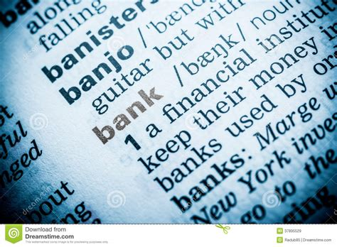 Closets Definition by Bank Word Definition Royalty Free Stock Images Image