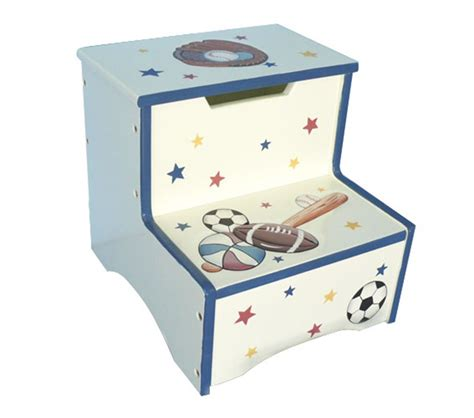 Teamson Step Stool by Dreamfurniture Teamson Boys Step Stool With
