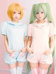 Costume Rin Kagamine Vocaloid Rabbit Vers Import Jumpsuit Cu light blue light gray killer sweater se9654