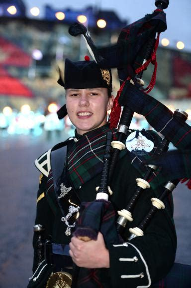 edinburgh tattoo lone piper list fife soldier is first army female in history to be lone