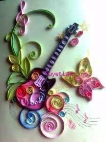 Paper Quilling Craft Ideas - quill guitar paper quilling craft