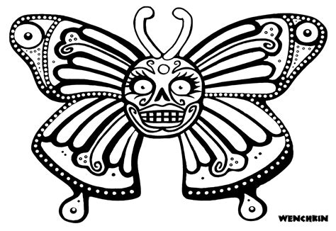 Girly Skulls Coloring Pages Girly Sugar Skull Coloring Pages