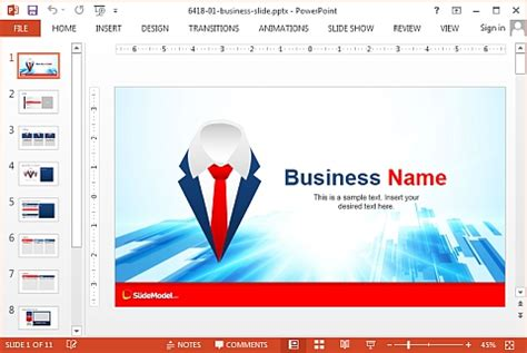 simple business template powerpoint slidemodel professional powerpoint templates for