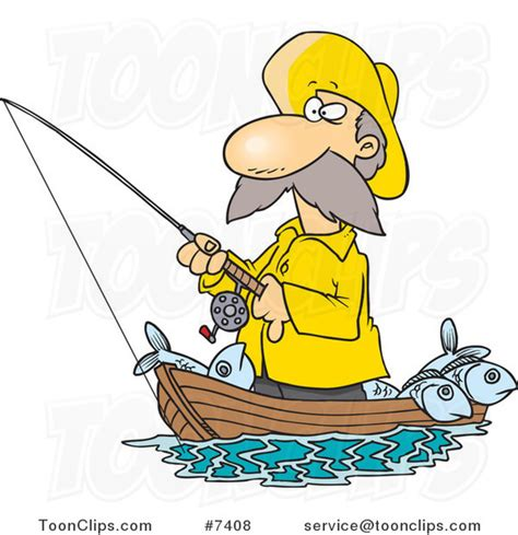 cartoon jon boat man fishing in boat clipart clipground