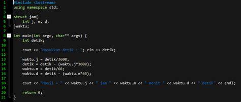 detik ke menit konversi detik ke jam menit detik dengan algoritma c