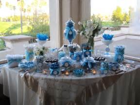 Blue Buffet Table Ideas Candybuffet Bars Wedding Colors Wedding