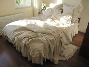 custom king duvet cover 6 pcs farmhouse country bedding beige ecru neutral woven cotton linen