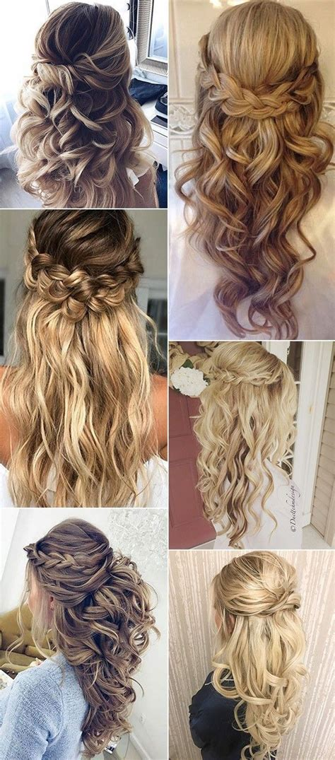Half Up Half Wedding Hairstyles Diy by Best 25 Half Up Half Ideas On Half Up