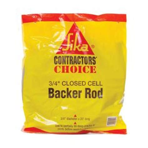 sika 3 4 in closed cell backer rod 108130 the home depot