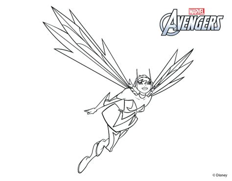 avengers wasp coloring pages avengers wasp coloring pages
