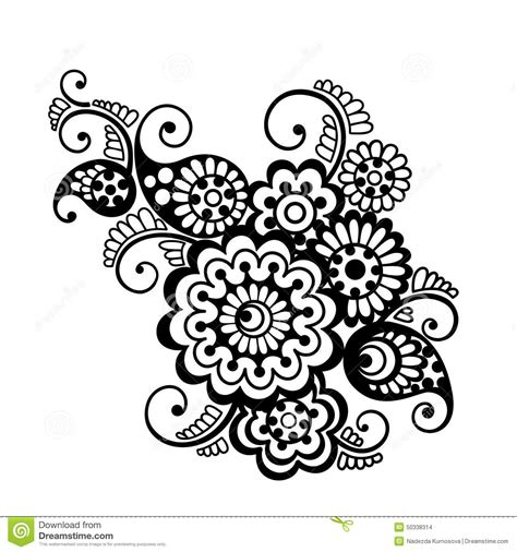vector floral pattern element indian ornament stock