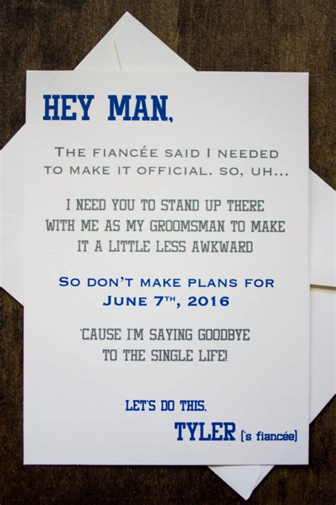 free groomsman card template groomsman card invite will you be my by foreverymomentco