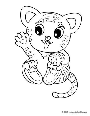 coloring pages of cute baby tigers baby tiger coloring pages getcoloringpages com