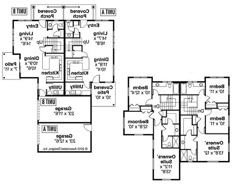Side By Side Duplex Plans by Awesome Side By Side Duplex House Plans Pictures House