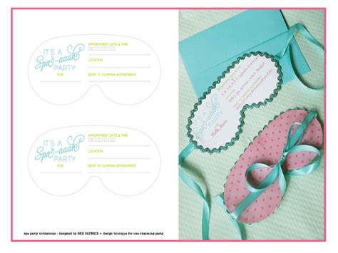 spa invitations templates free free printable spa invitation orderecigsjuice info