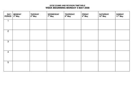 sle timetable template revision template 28 images revision timetable