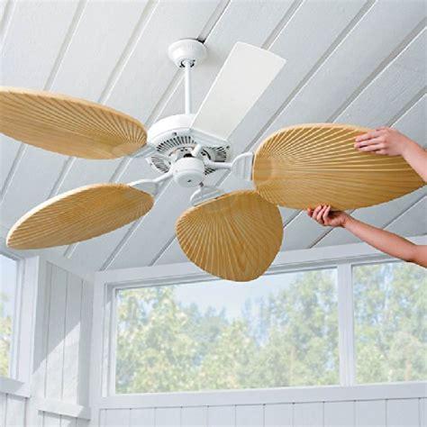 Palm Leaf Ceiling Fan Blade Covers Best Decorative Ceiling Fan Blade Covers