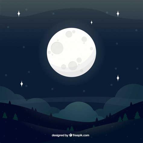 wallpapers luna llena por jomagabo fondos paisajes fondo de paisaje con luna llena descargar vectores gratis