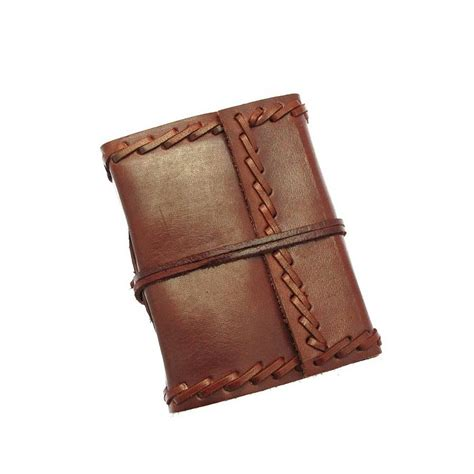 handmade stitched leather journal by paper high
