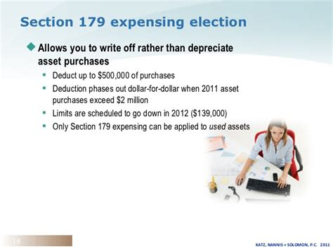 section 179 deduction 2012 tax update for the n e aca conference