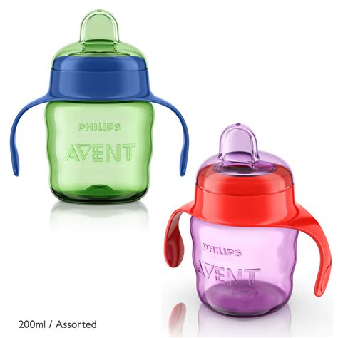 New Avent Soft Spout Pinguin 200ml alami baby beakers sippers cups avent easy sip spout cup with handles 200ml