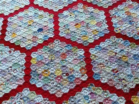 Hexagon Patchwork Quilt - 1913 best hexagon quilting images on