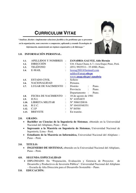 Modelo De Curriculum Vitae Experiencia Peru Modelo De Curriculum Vitae Lima Peru Modelo De Curriculum Vitae
