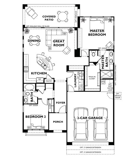 Home Floor Plans Models | trilogy at vistancia st tropez floor plan model shea