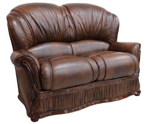 Farah Brown Sofa 2 Seater delaware 2 seater genuine italian tabak brown leather sofa