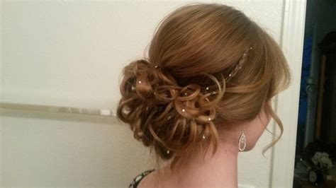 Prom Hairstyles With Hewels | prom hair jewels with a dab of water soluable elmer s