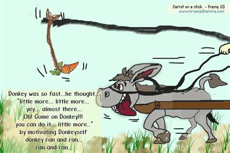 Turning A Carrot Into A Stick Fishing Stick That Is by Carrot On A Stick Theory To Nirvanadhamma
