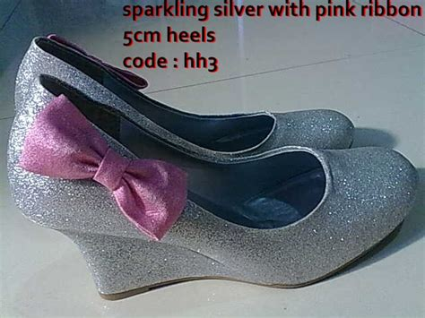 Glitter Pita Pink sparkling silver with pink ribbon newmerida s olshop