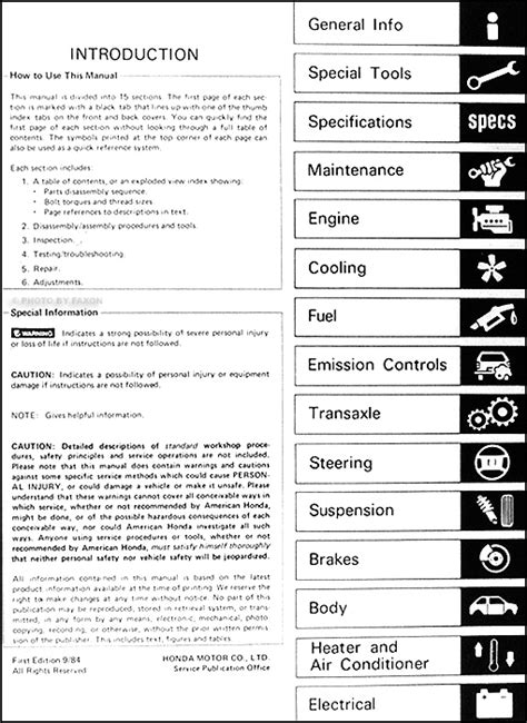 service manuals schematics 1985 honda prelude seat position control 1985 honda prelude repair shop manual original
