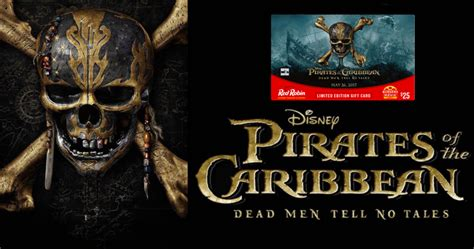 free pirates of the caribbean movie ticket with 25 red robin gift card purchase my - Red Robin Pirates Gift Card