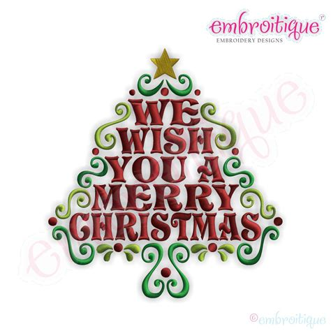 what a happy what a merry tree embroitique we wish you a merry word tree