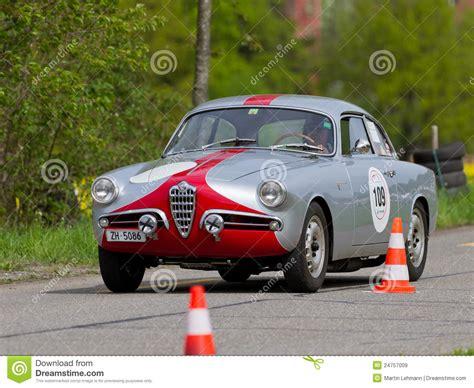 vintage alfa romeo race cars vintage race touring car alfa romeo editorial stock image