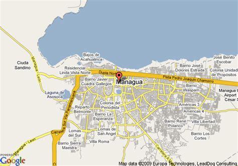 managua nicaragua map map of hotel intercontinental managua managua