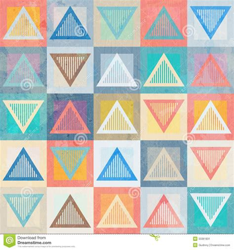 triangle pattern after effects rainbow triangle seamless pattern with grunge effect