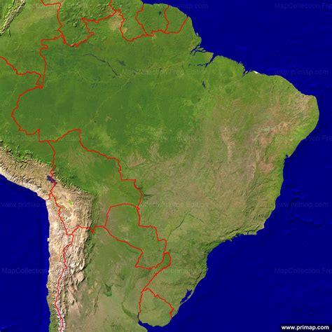 satellite map of brazil primap national maps